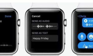 Apple Watch sesli mesaj gönderme