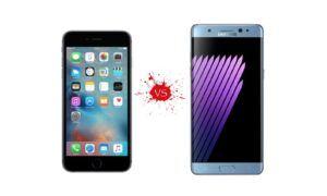 iPhone 7 Plus ve Samsung Galaxy Note 8 arasındaki farklar