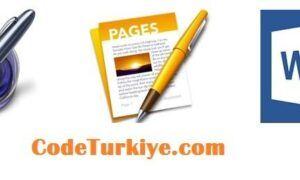 Pages belgesini Word belgesi olarak kaydetme