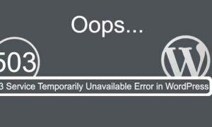 WordPress 503 Service Unavailable Hatası