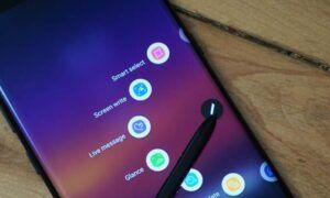Samsung Galaxy Note 9'da ekran görüntüsü nasıl alınır