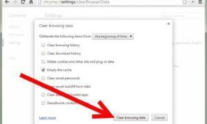 Google Chrome 'Önbellek bekleniyor'