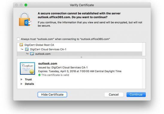 Outlook'ta Sunucuya Güvenli Bağlantı Kurulamıyor
