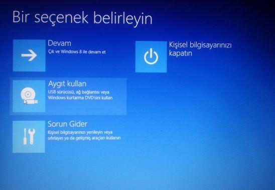 Windows Formatı Tamamlayamadı