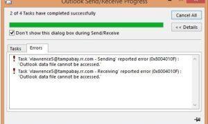 Outlook veri dosyasına erişilemiyor