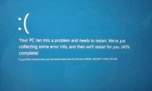 Windows 10 Çekirdek Güvenlik Kontrolü Hatası