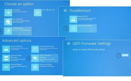 Windows 10'da UEFI Firmware Ayarları Eksik