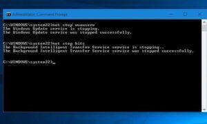 Windows Update Hizmeti Durdurulamadı
