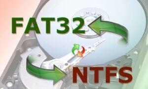 FAT32 formatındaki harddisk veya usb belleği NTFS çevirme