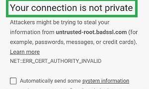 Android'de SSL Bağlantı Hatası