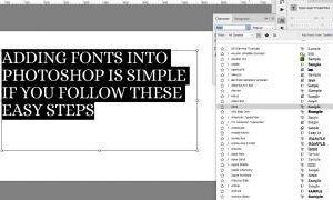 Photoshop'a Yazı Tipi Nasıl Eklenir?