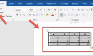 Microsoft Word'de Tablo Oluşturma ve Özelleştirme