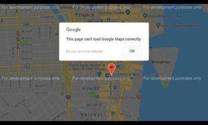 bu sayfa google haritalar'ı doğru şekilde yükleyemedi