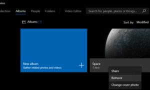 Windows 10 Fotoğraflar Uygulamasındaki Bir Albümü Kaldırma
