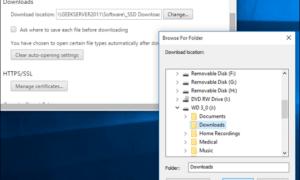 Chrome, Firefox Varsayılan indirilenler Klasörünü Değiştirme