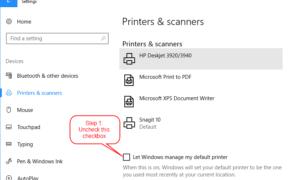 Windows 10 varsayılan yazıcıyı nasıl değiştirilir