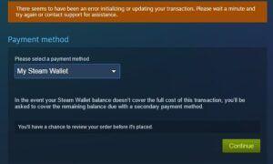 Steam'de İşleminizi Başlatma veya Güncelleme Hatası