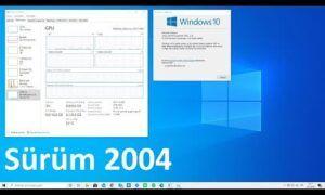 Windows 10 Sürüm 2004 0xc19001e1 Başarısız Oldu