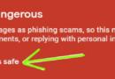 Gmail Bu Mesaj Tehlikeli Görünüyor