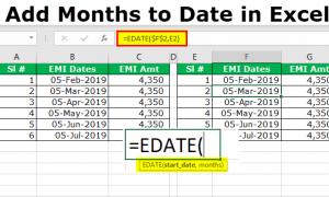 Excel'de Tarihe Ay Ekleme